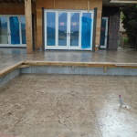 Concrete stamp deck